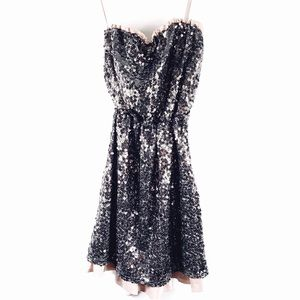 DKNY Strapless Sequin Cocktail Party Dress Small